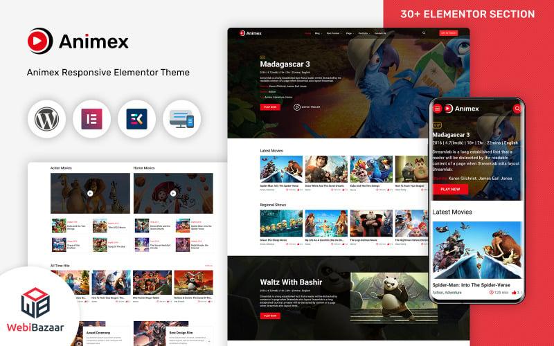 Animex - Special Effects Design Services Elementor WordPress theme