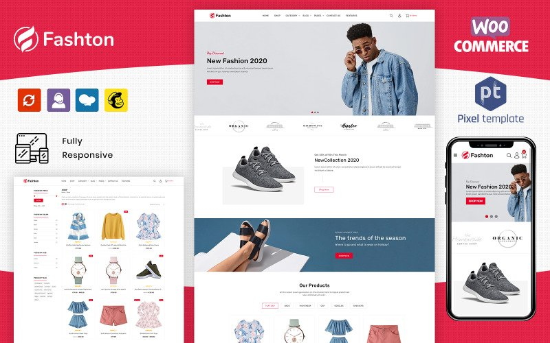 Fashton - Магазин современной моды WooCommerce