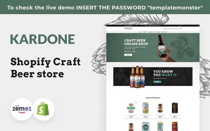 Kardone Craft Beer, Brewery Shopify Theme