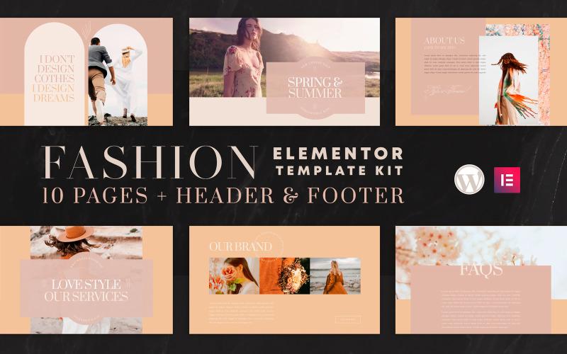 Valentina - Elementor Template Kit - WooCommerce (Online Shop) kompatibel - 10 Seiten enthalten