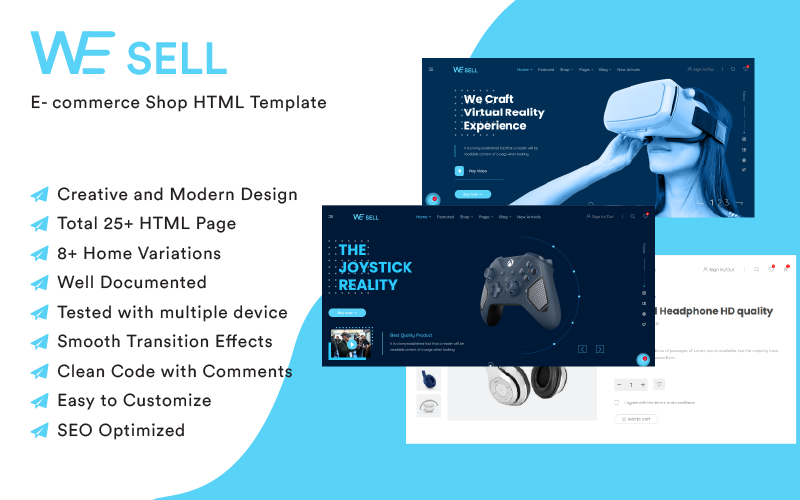 WeSell - Accessories Shop HTML Website template