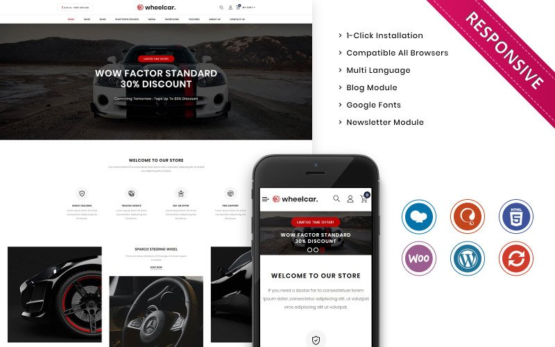 Wheelcar - Automobile Store Premium Woocommerce Template