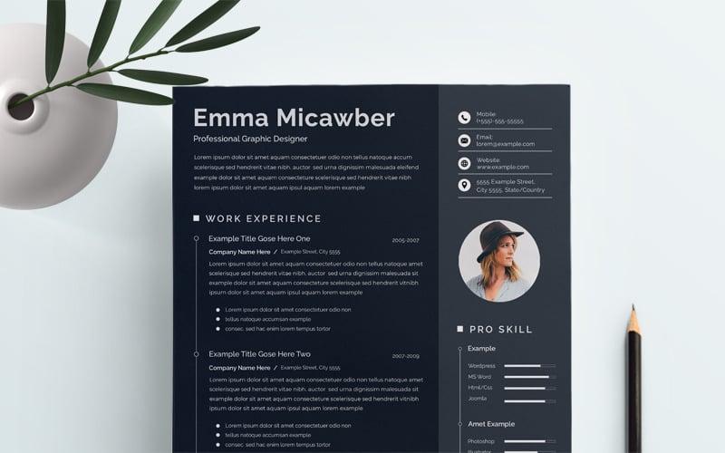 Black Minimal Resume Template
