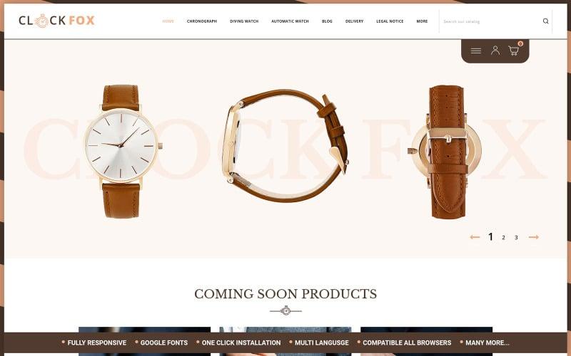 Clockfox - Watch Store Opencart Theme