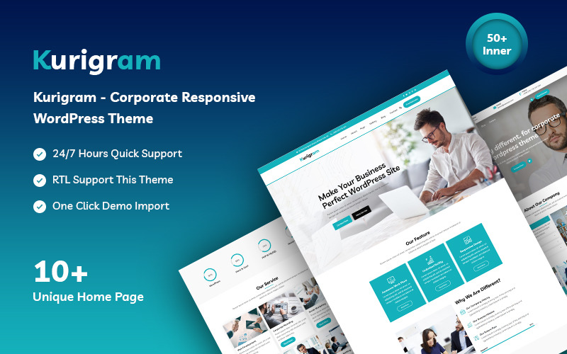 Kurigram - Corporate Responsive WordPress-Theme