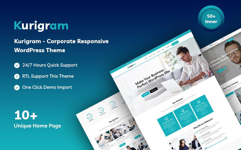 Kurigram - корпоративная адаптивная тема WordPress