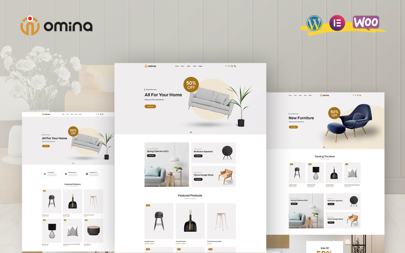Omina - тема WooCommerce для мебели