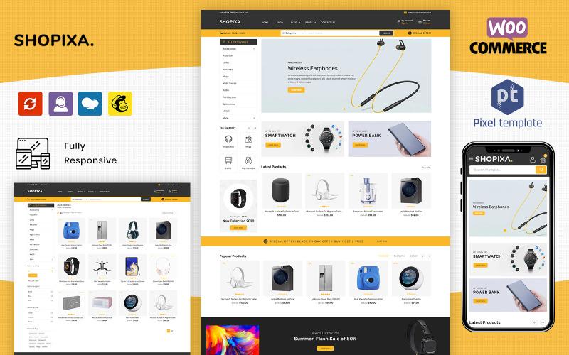 Shopixa - тема WooCommerce для многоцелевой электроники