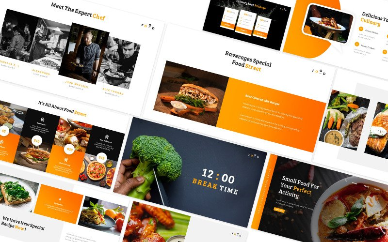 Street Food Powerpoint Template