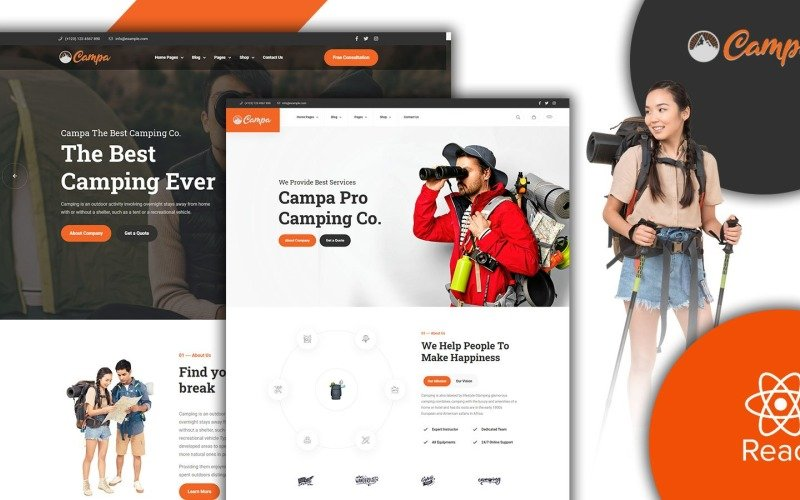 Campa Adventure Store And Hiking React JS Template