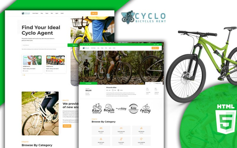 Cyclo - Cycle Service HTML5 Website template