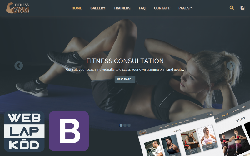 Fitness Gym WLK - Website And Landing Page Template