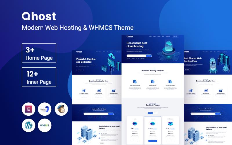 Qhost - Hébergement Web moderne et thème WordPress WHMCS
