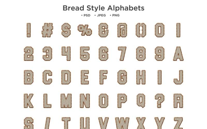 Алфавит стиля хлеба, типография Abc