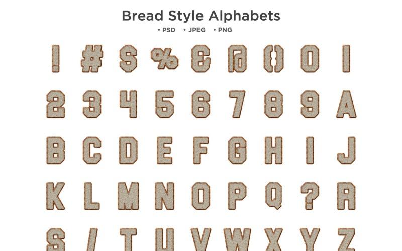 Bread Style Alphabet, Abc Typography