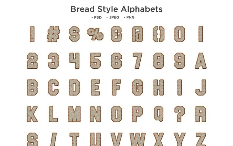 面包样式字母表,Abc 排版
