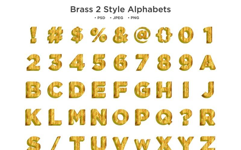 Sárgaréz 2 stílusú ábécé, Abc tipográfia