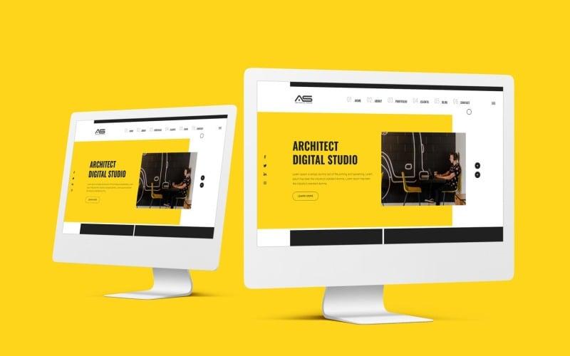 埃拉 |建筑师工作室 HTML5 登陆页面模板