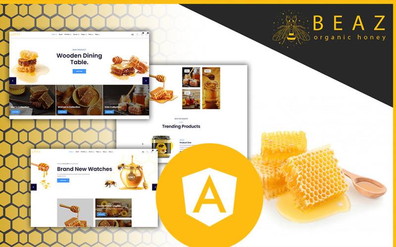 Beaz Honey Farm Shop Angular JS 模板