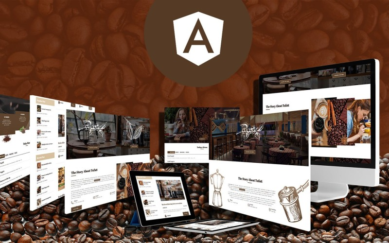 Fattbean - Угловой JS-шаблон для кофейни