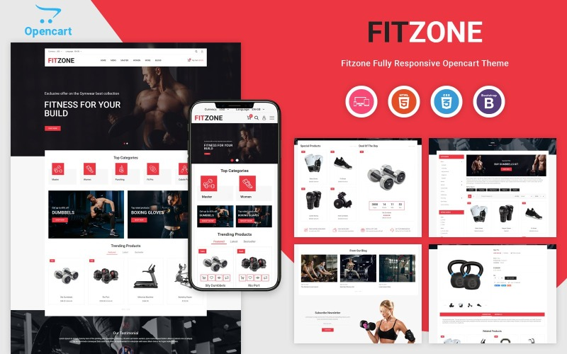 Fitzone - Responsive OpenCart Template