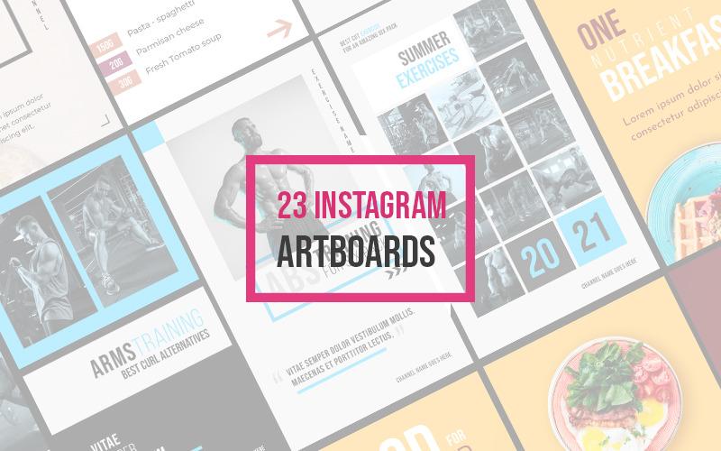 23 Instagram Story PSD Artboards Social Media
