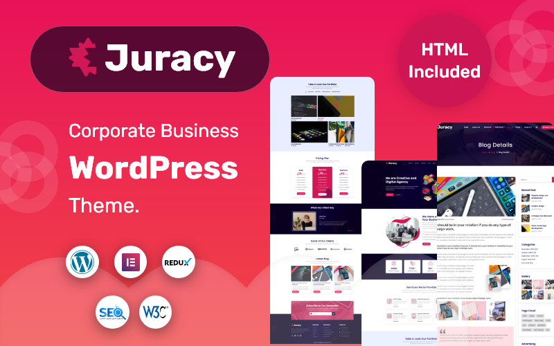 Juracy - тема WordPress для корпоративного бизнеса
