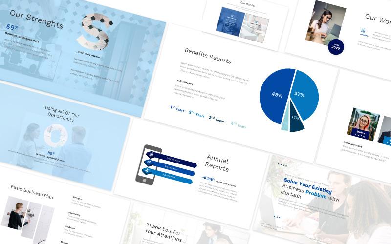 Modèle PowerPoint de solution commerciale Moartada