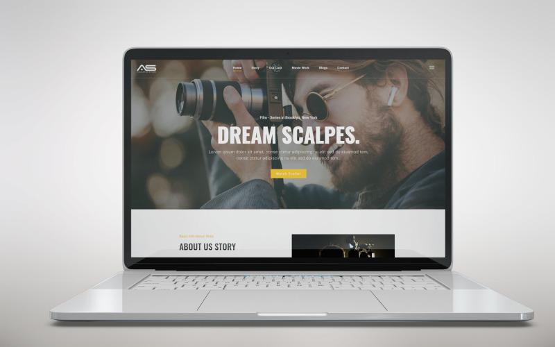 舒沃 |电影和电影 HTML5 登陆页面模板