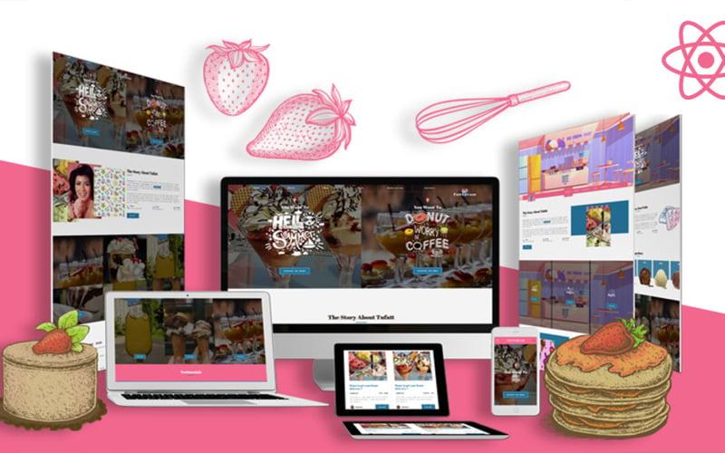 Summercream - Универсальный шаблон React Js для магазина десертов