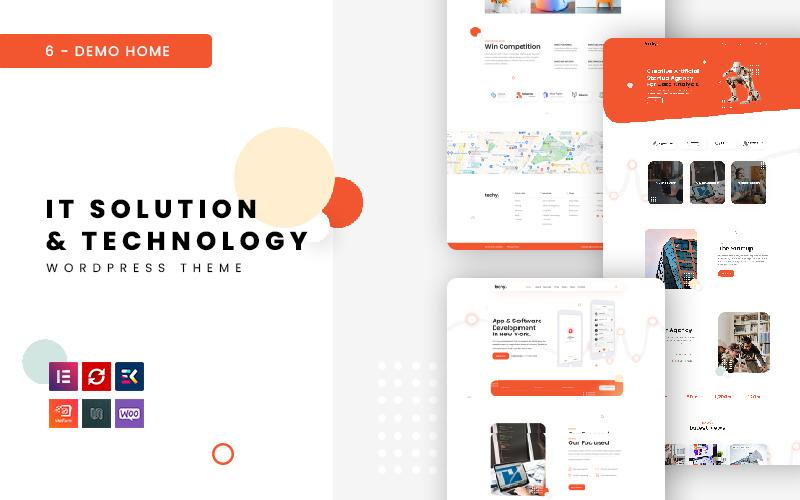 Techy - многоцелевая тема WordPress в области ИТ и технологий