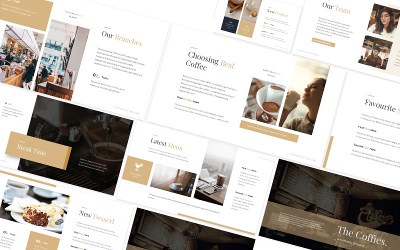 Coffee Shop Powerpoint Template