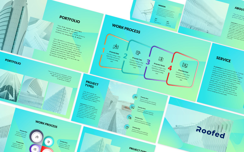 Roofed 2 Powerpoint Template