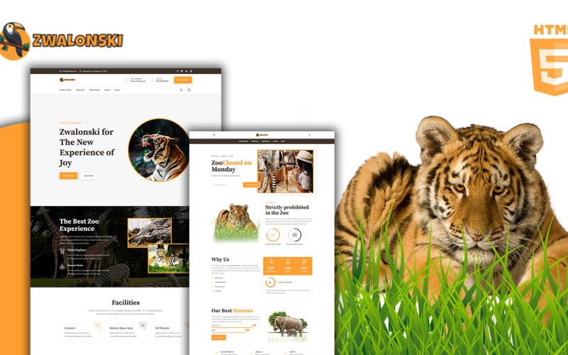 Zwalonski Állatkert HTML5 webhelysablon