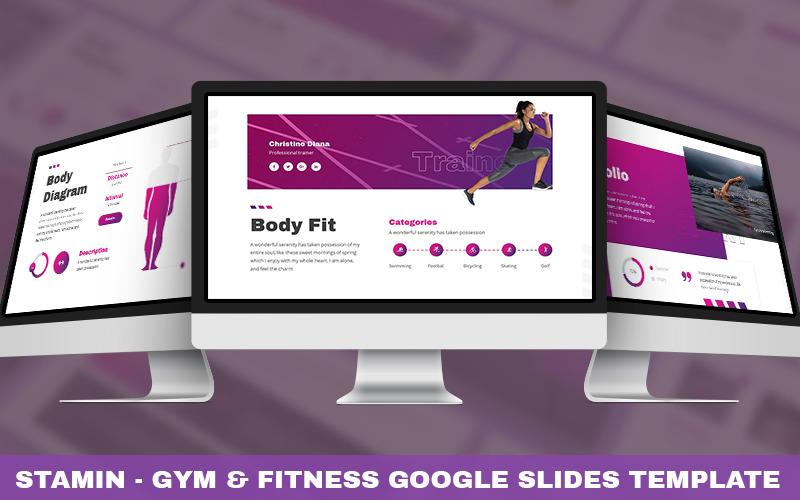 Stamin - Modèle Powerpoint Gym & Fitness