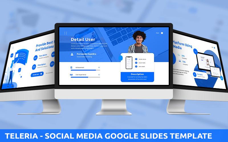 Teleria - Modèle PowerPoint de médias sociaux