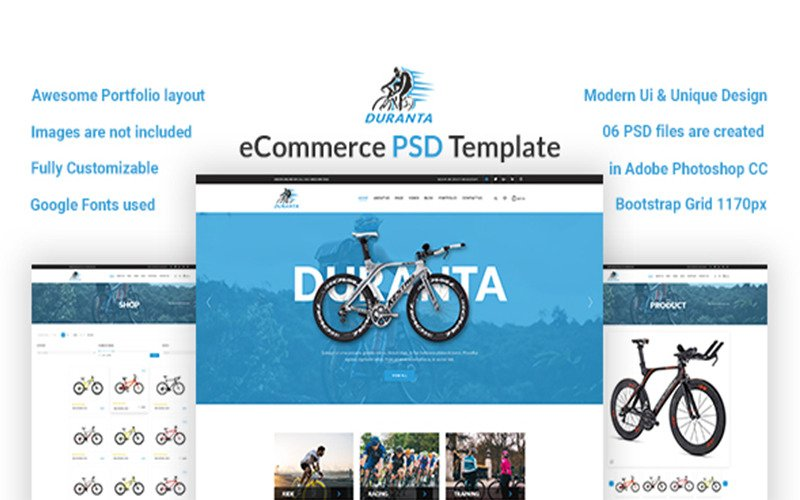Duranta – eCommerce PSD Template