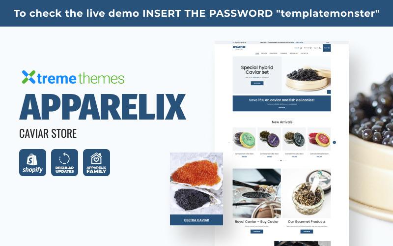 Apparelix Caviar Store Shopify Theme