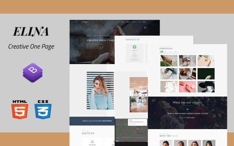 Elina - Portfolio Landing Page Template