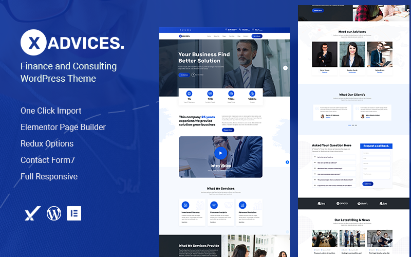 Xadvices – Finance and Consulting WordPress Theme