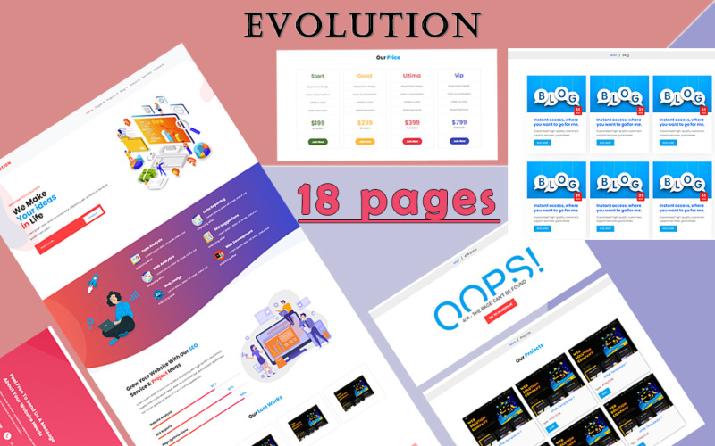 EVOLUTION - Fully Responsive Multi-Page Website Template