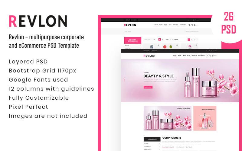 Revlon – Multipurpose Corporate and eCommerce PSD Template