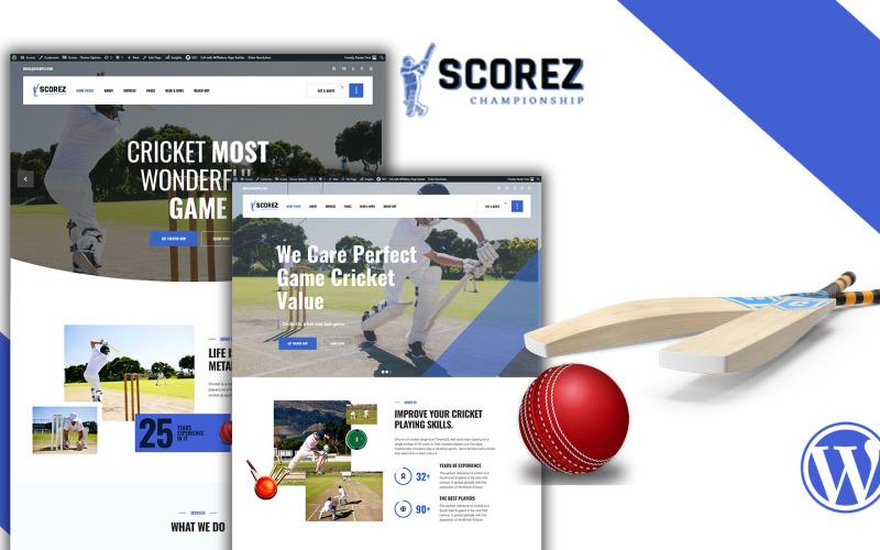 Scorez Cricket WordPress-thema