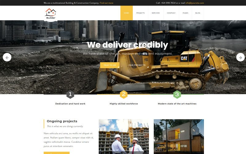 Builder Building and Construction Joomla Template