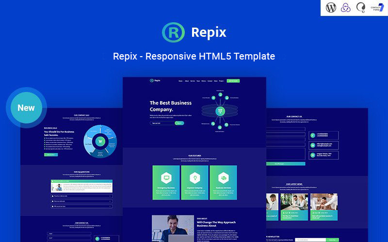 Repix - Business Landing Page Responsive Website Template
