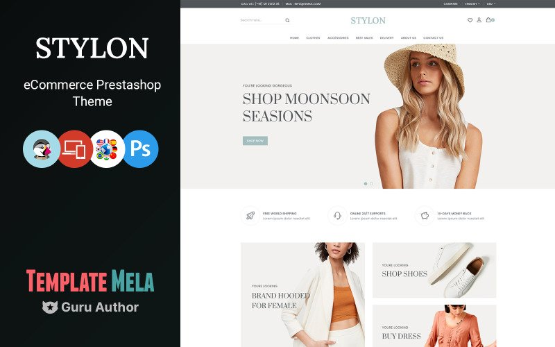 Stylon Fashion and Shoes Store Prestashop Theme