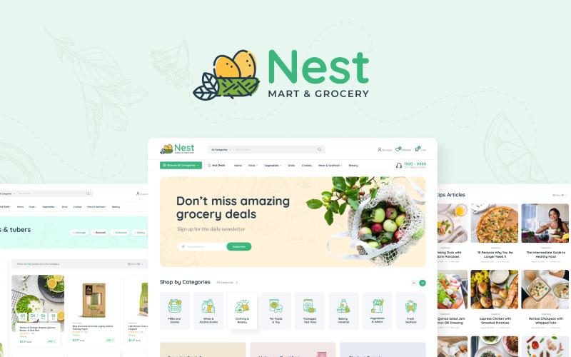 NestMart - Grocery, Supermarket, eCommerce HTML Template