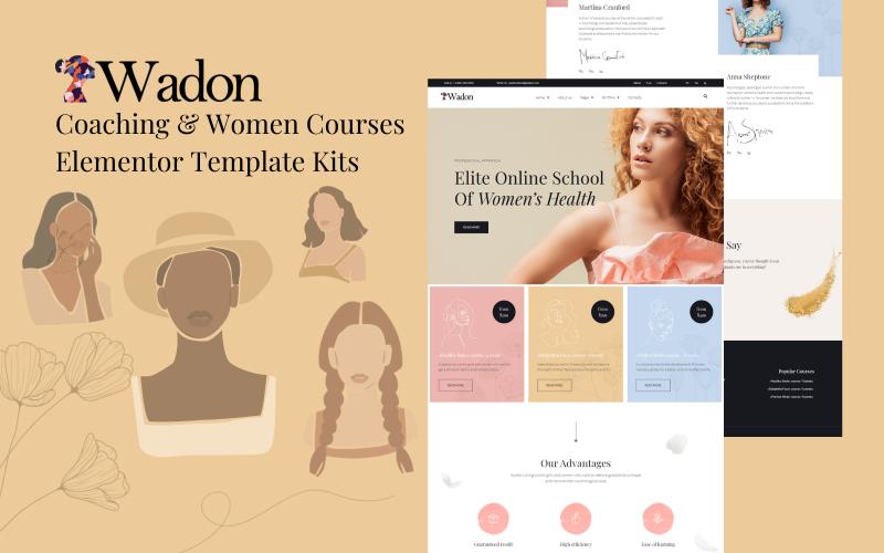 Wadon - Coaching & Women Courses Elementor Template Kits