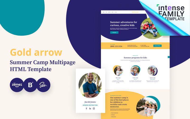 Gold Arrow - Summer Camp HTML5 Website Template