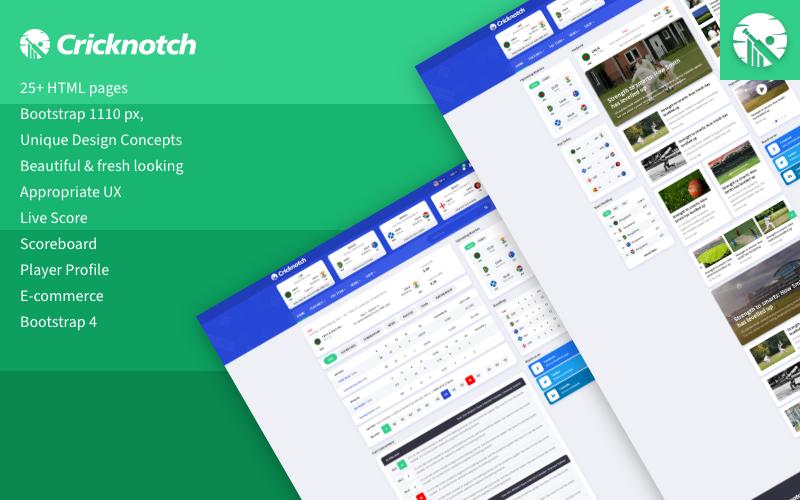 Cricnotch – Cricket Sports HTML Template